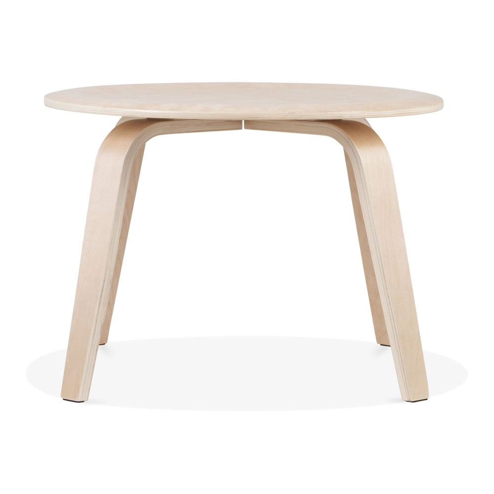 Perfect Cult Living Ella Round Coffee Table, Birch Wood, Natural