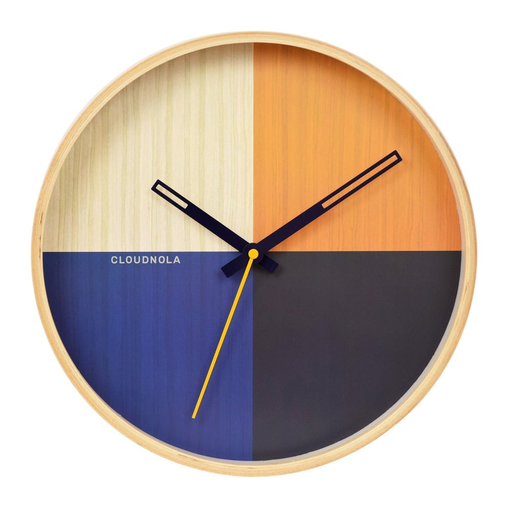 Blue Flor Wooden Wall Clock Modern Wall Clocks