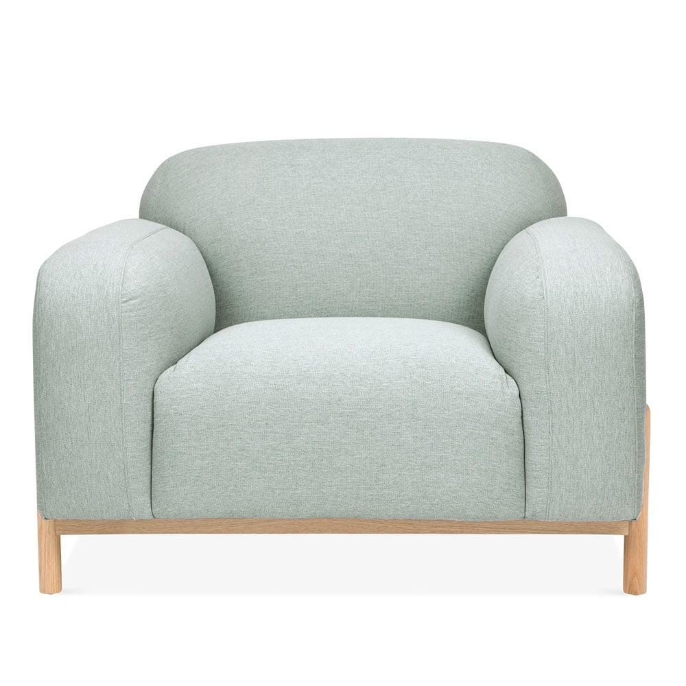 Soft Teal Fabric Upholstered Bergen Armchair | Modern Sofas