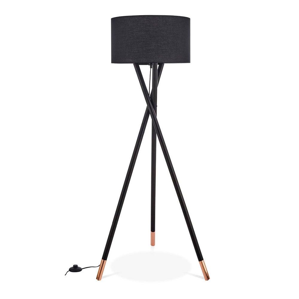 black albany wooden tripod floor lamp modern lighting. Black Bedroom Furniture Sets. Home Design Ideas