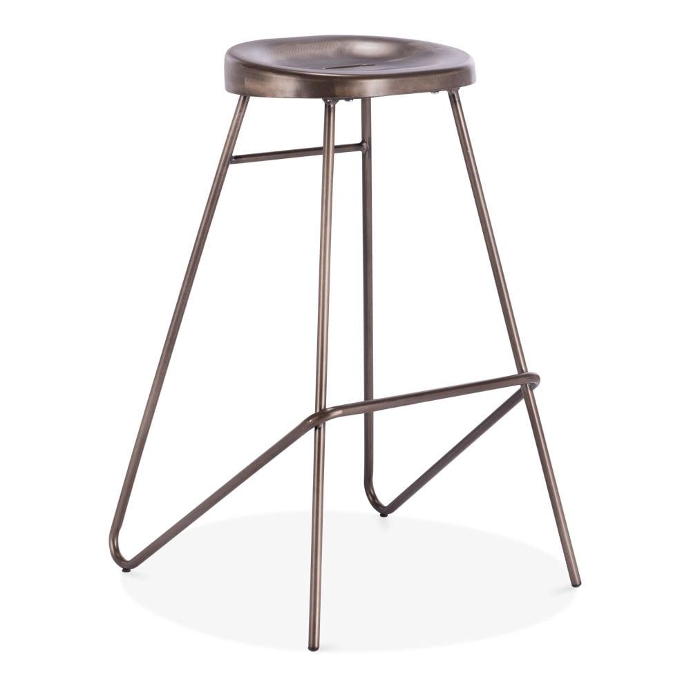rustic metal borough bar stool bar restaurant stools. Black Bedroom Furniture Sets. Home Design Ideas