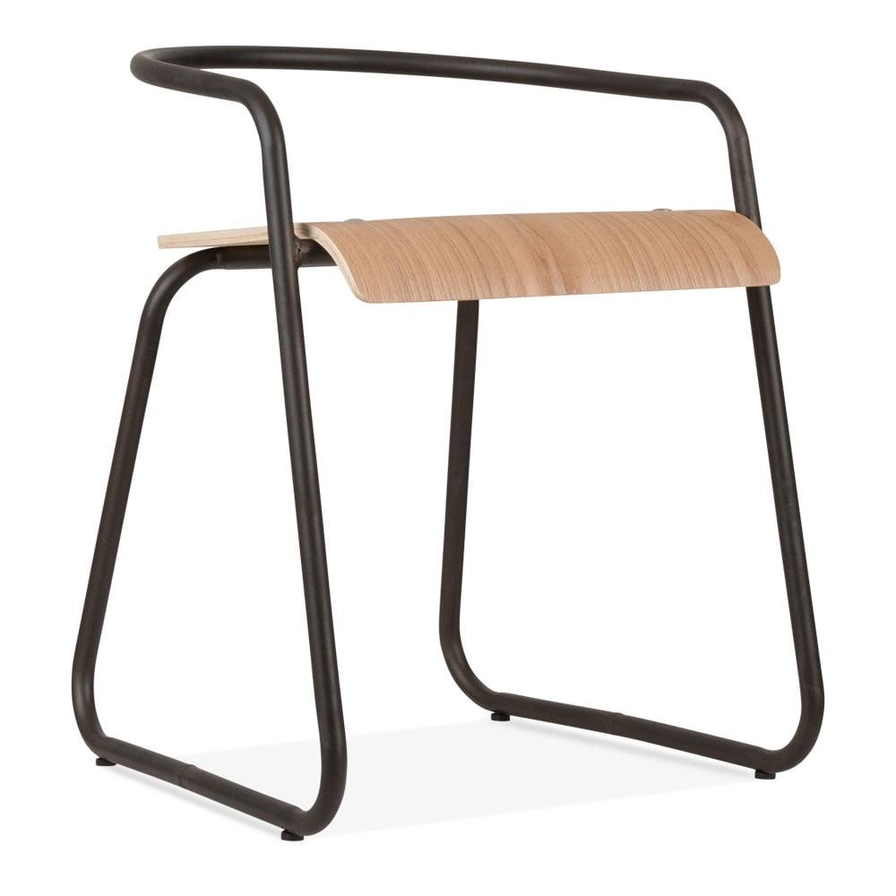 bentwood bistro chair. Cult Living Pila Metal Half Bistro Chair, Bentwood Seat, Rustic Chair