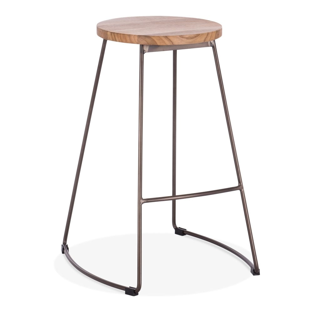 rustic 65cm jonas metal bar stool kitchen bar stools. Black Bedroom Furniture Sets. Home Design Ideas