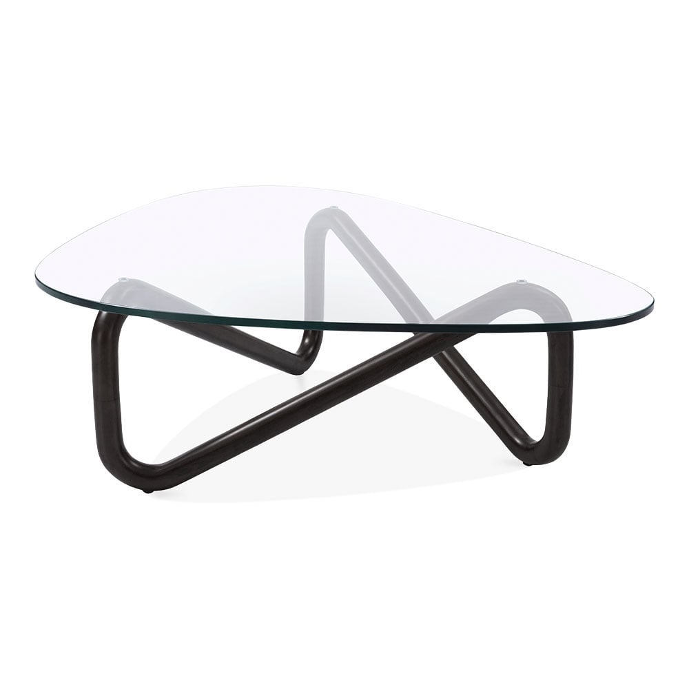 Black infinity glass top coffee table living room furniture cult living infinity glass top coffee table solid beech wood black geotapseo Image collections