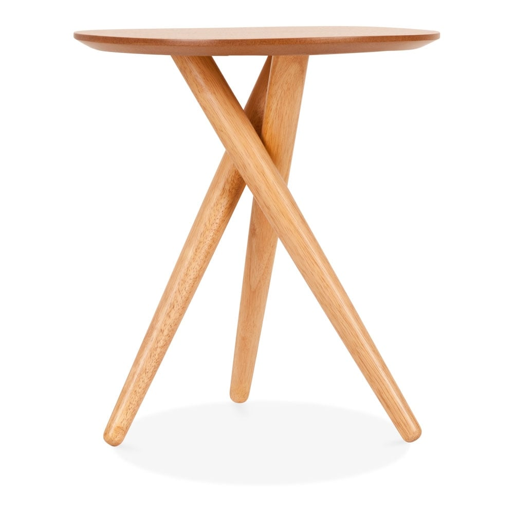 Natural boden wooden tripod side table modern end tables