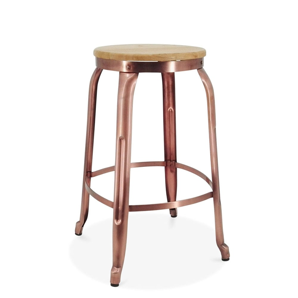 New Copper Metal Wood Counter Stool Kitchen Dining Bar: Light Copper 65cm Morgan Metal Bar Stool