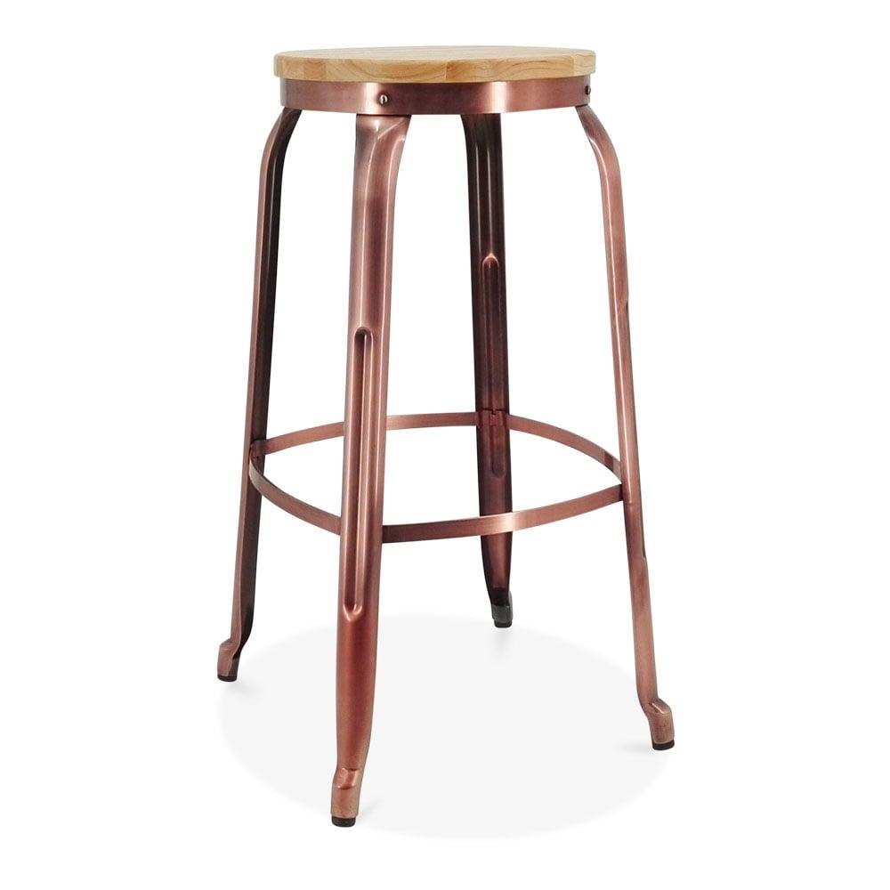 Metal Bar Stools ~ Light copper cm morgan metal bar stool kitchen counter