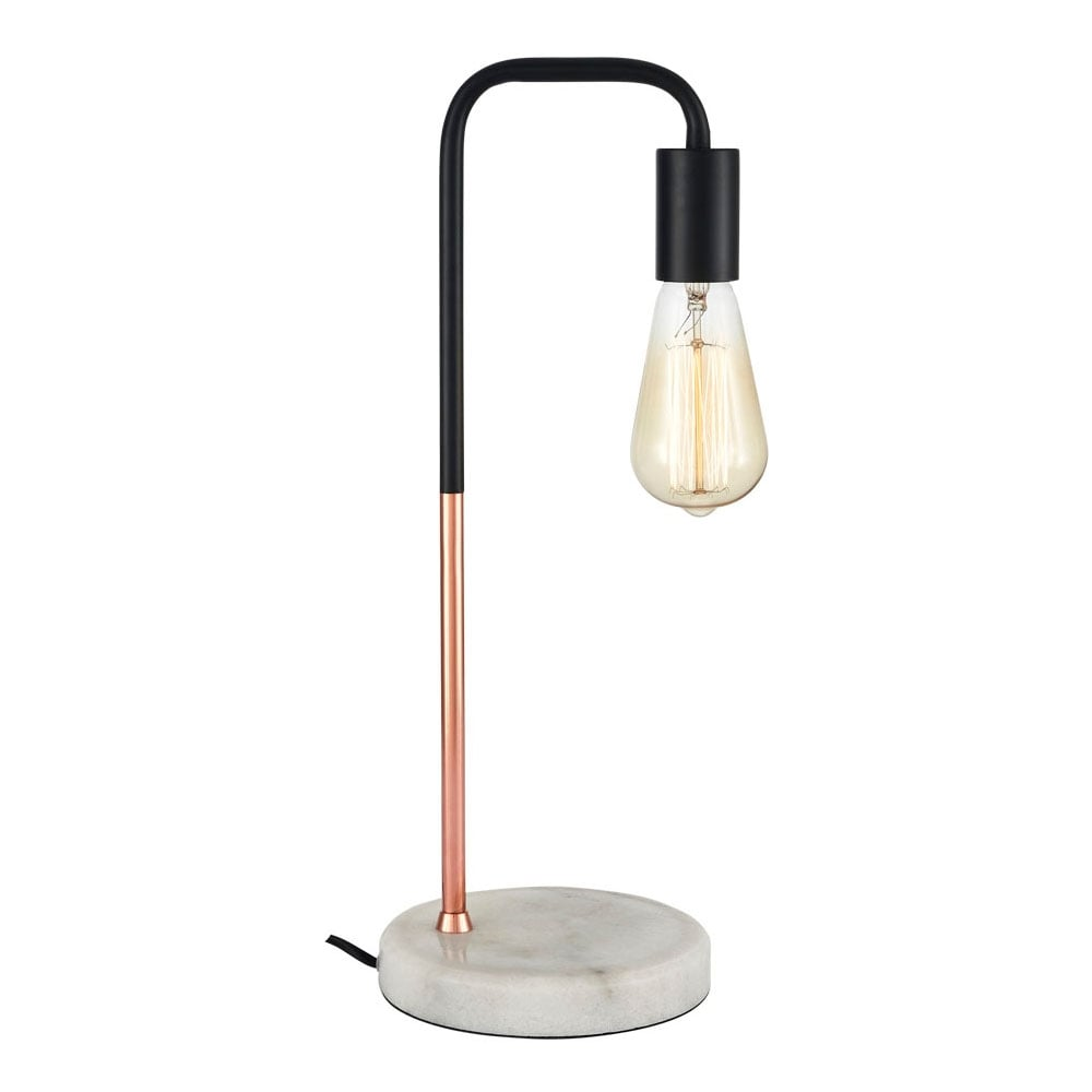 Brushed Copper And Marble Indra Table Lamp Modern Desk Lamps