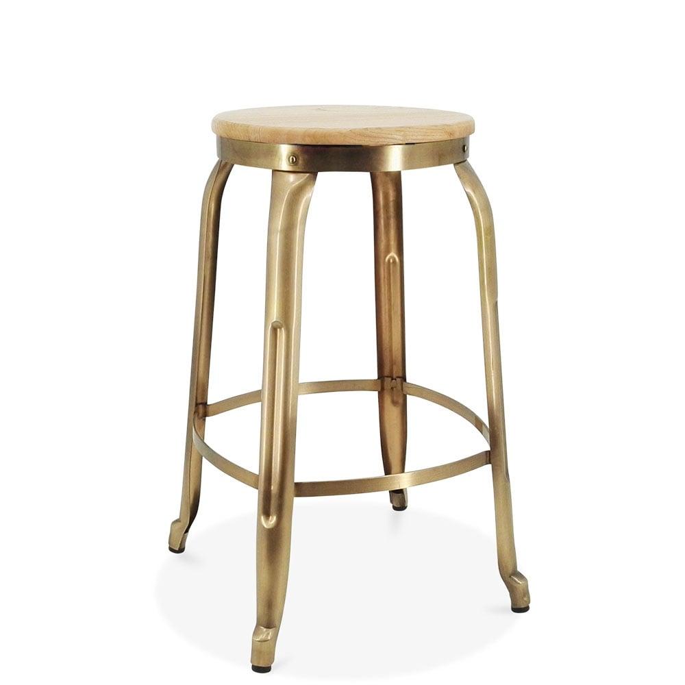 Metal Bar Stools ~ Brass cm morgan metal bar stool kitchen counter stools