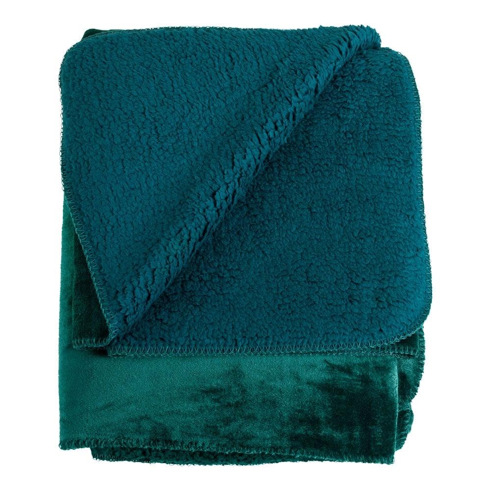 Teal Soft Fleece Throw 200cm X 150cm Luxury Throws And