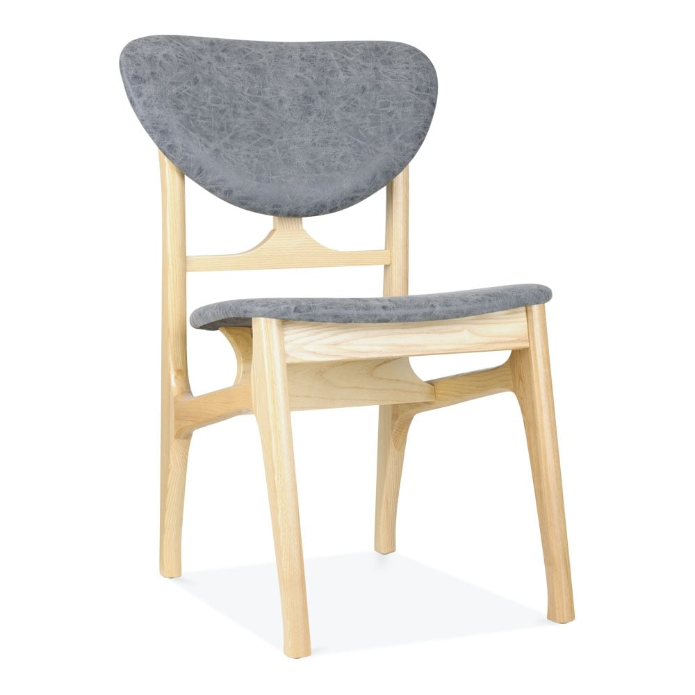 Clearance Dining Chairs: Solid Natural Wood & Grey