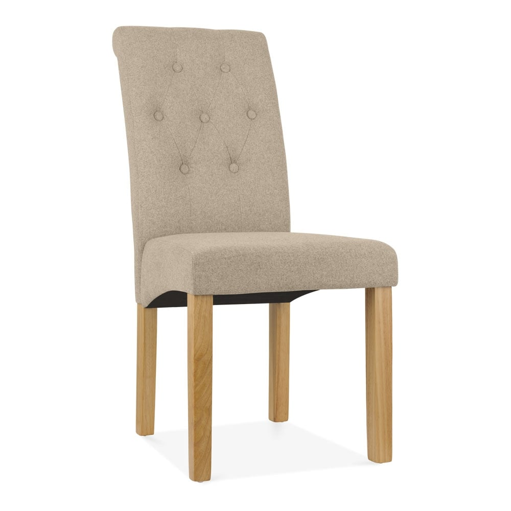 Belgrave high back dining room chair cream button back for High back upholstered living room chairs