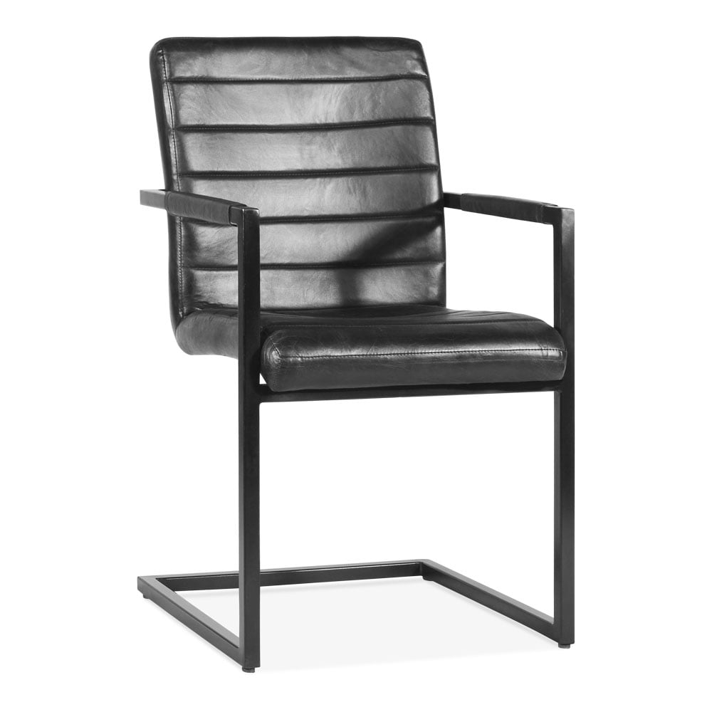 black leather upholstered bristol dining chair modern dining chairs. Black Bedroom Furniture Sets. Home Design Ideas