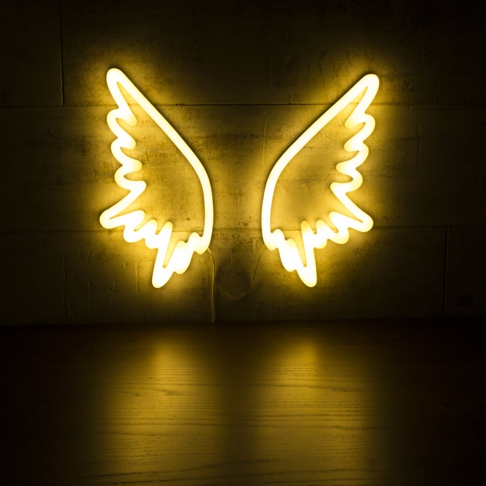 White Angel Wings Neon Wall Light Retro Neon Sign Light
