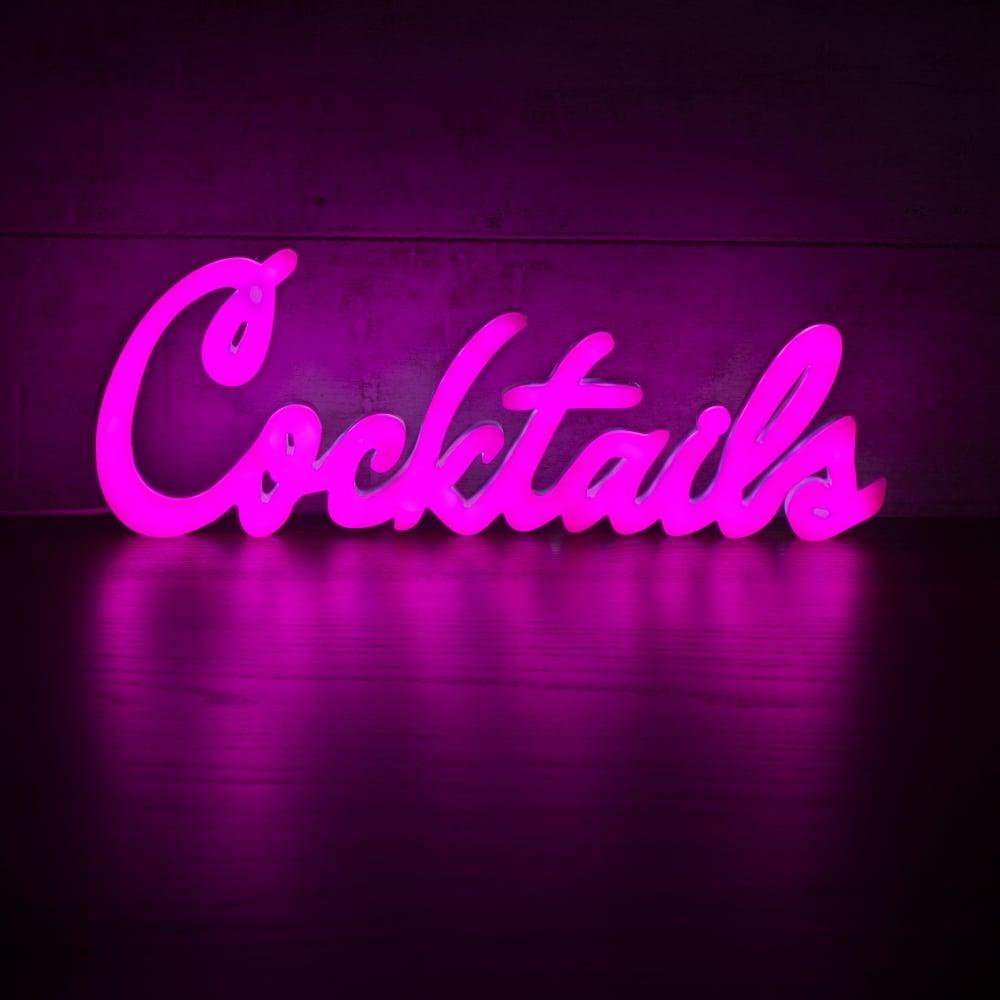 pink cocktails neon sign wall light retro neon sign light. Black Bedroom Furniture Sets. Home Design Ideas