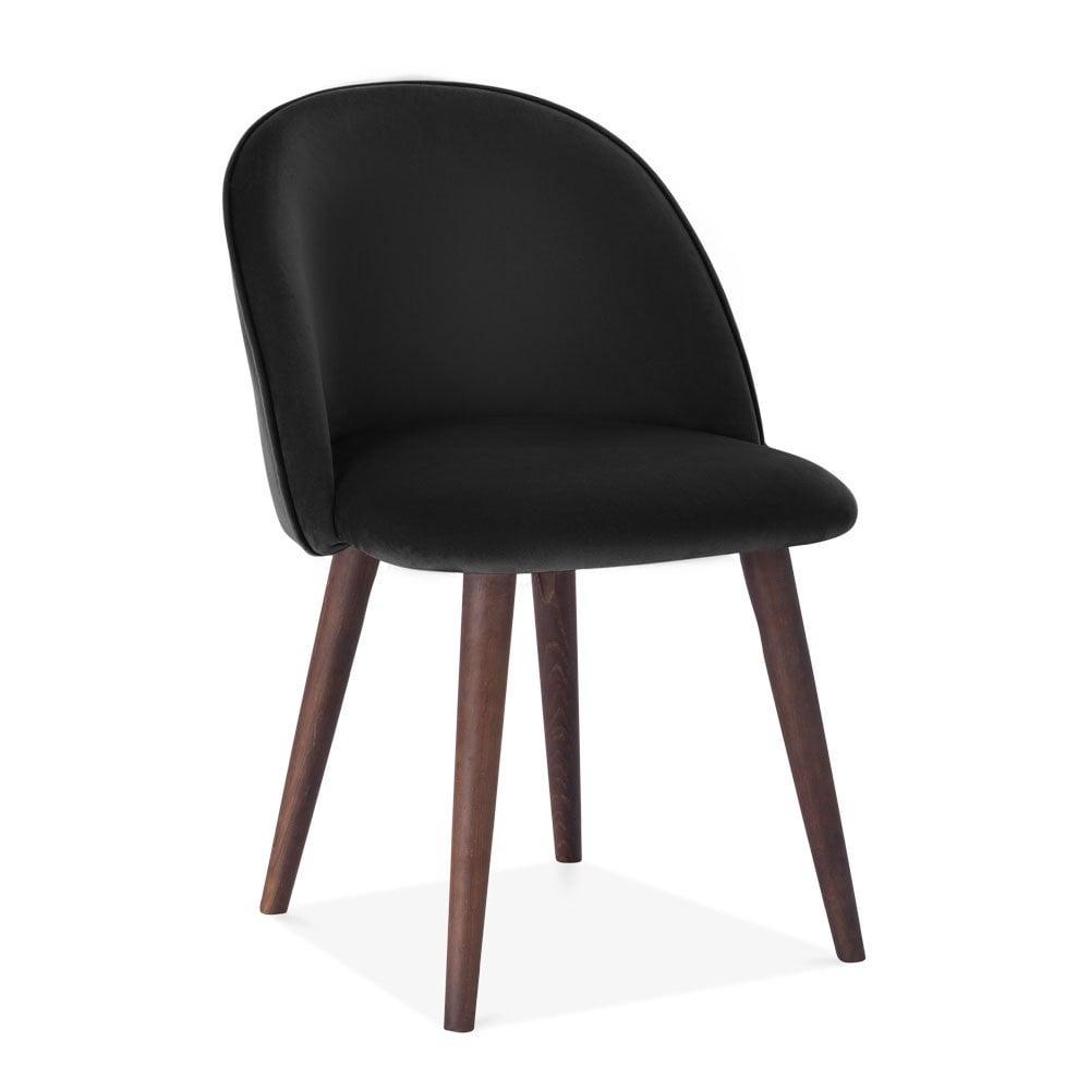 Black Dahlia Dining Chair Velvet Upholstered