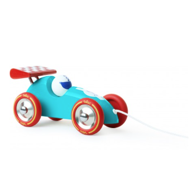 Pull Along Racing Car - Turquoise