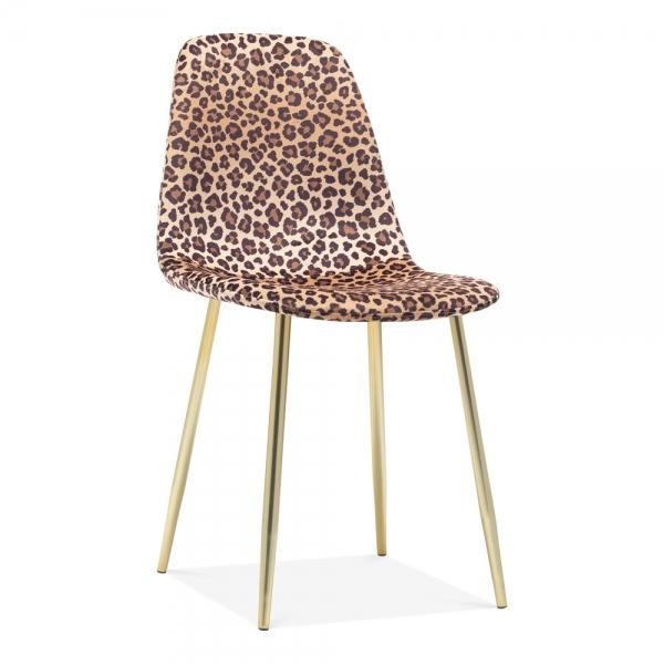 Leopard Print Velvet Rayner Dining Chair   Upholstered ...