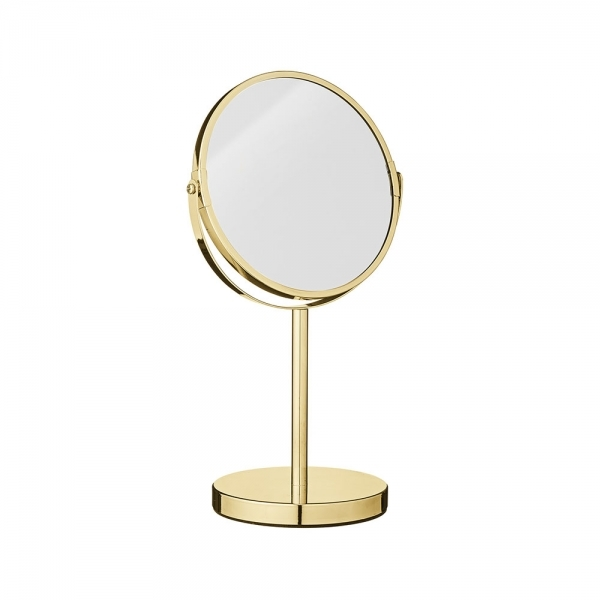 Gold Round Metal Vanity Table Mirror Modern Home Accessories