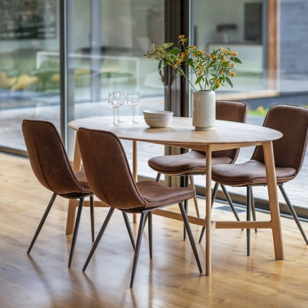 Solid Oak Wood Safia Oval Dining Table Solid Oak Dining Tables