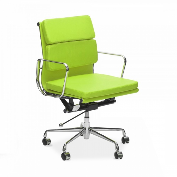 designer fashion 00fd4 44a78 Lime Green Short Back Soft Pad Executive Office Chair
