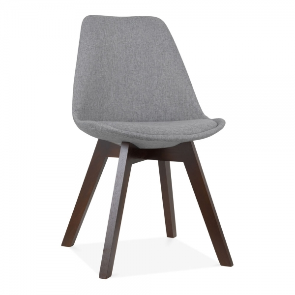 Scandi Designs Cool Grey Upholstered Dining Chair Cafe Restaurant Chair