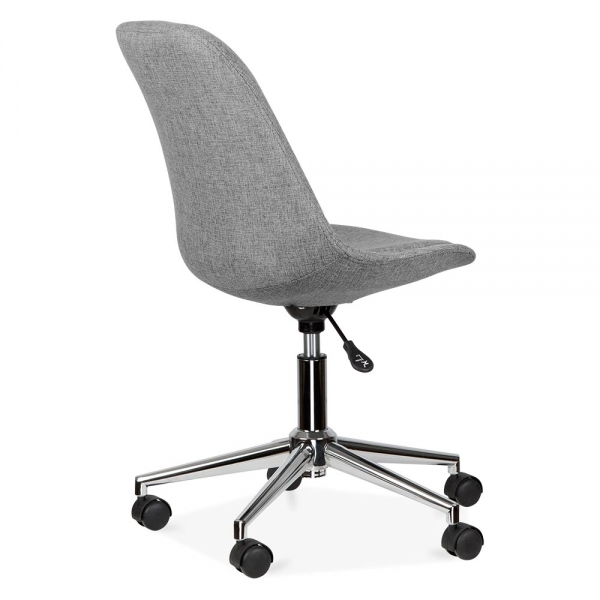 Groovy Upholstered Office Chair With Soft Pad Seat Cool Grey Download Free Architecture Designs Viewormadebymaigaardcom