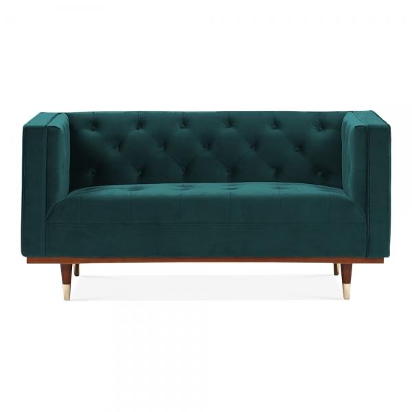 Teal Velvet Shawbrook 2 Seater Sofa