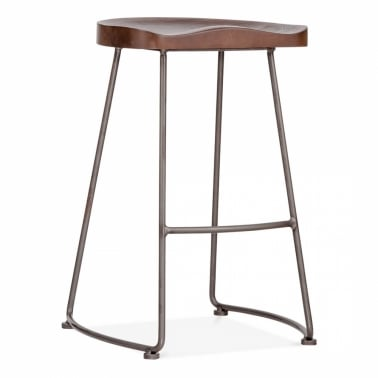 Shoreditch Metal Bar Stool - Gunmetal 75cm