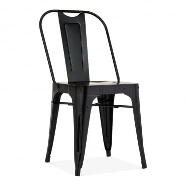 Shoreditch Metal Side Chair, Black