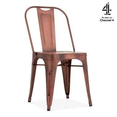Shoreditch Metal Side Chair, Vintage Copper