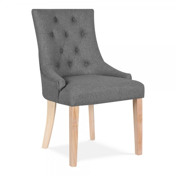 Cult Living Sieanna Dining Chair Fabric Upholstered Grey