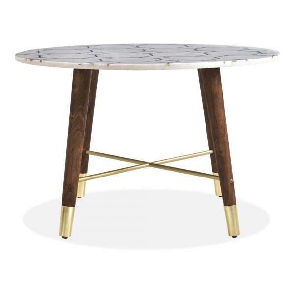 White Marble Signmund Round Coffee Table Modern Marble Tables