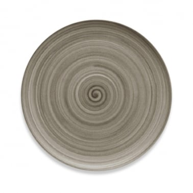 Signature Flat Coupe Plate With Wood Effect - 20cm