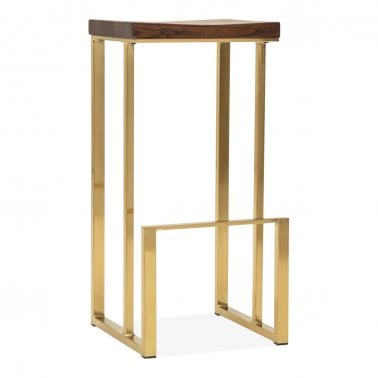 Groovy Gold Industrial Stools Cult Furniture Gmtry Best Dining Table And Chair Ideas Images Gmtryco