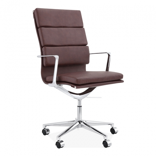 Cult Living Soft Pad Office Chair with High Back – Brown