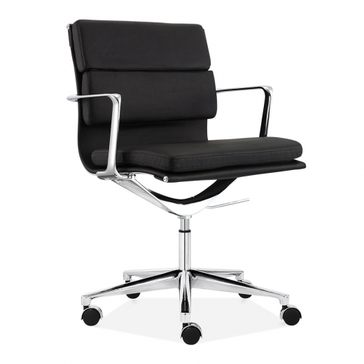 Cult Living Soft Pad Office Chair with Short Back - Black