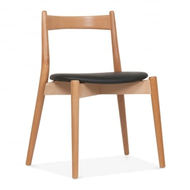 Soho Dining Chair - Natural / Black Seat