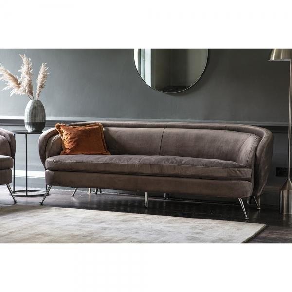 Dark Taupe Soro 3 Seater Sofa