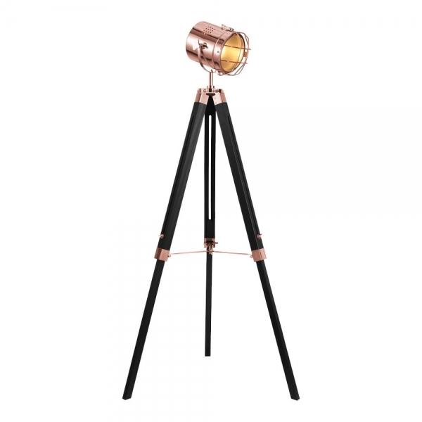 wholesale dealer 05ee6 b14ff Spotlight Tripod Floor Lamp, Black and Copper
