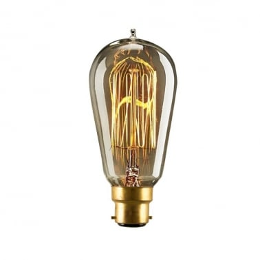 ST58 Squirrel Cage Filament Dimmable Light Bulb - B22