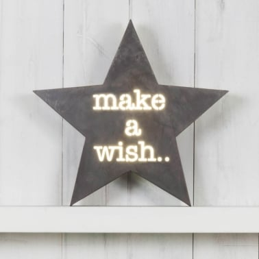 Star Metal Light Box Make A Wish