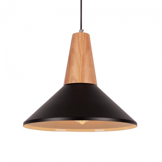 Cult Living Stockholm Dish Metal Pendant Light - Black
