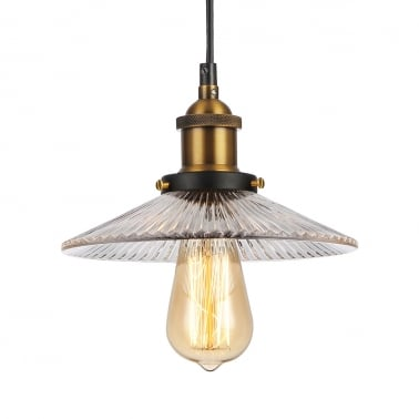 Stylo Glass Pendant Light - Clear
