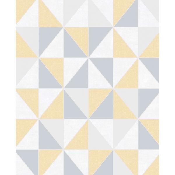 superfresco easy erika geometric wallpaper yellow and grey p23291 1628392 image