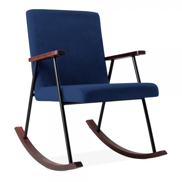 check out bd810 cc363 Sydney Rocking Chair, Velvet Upholstered, Royal Blue
