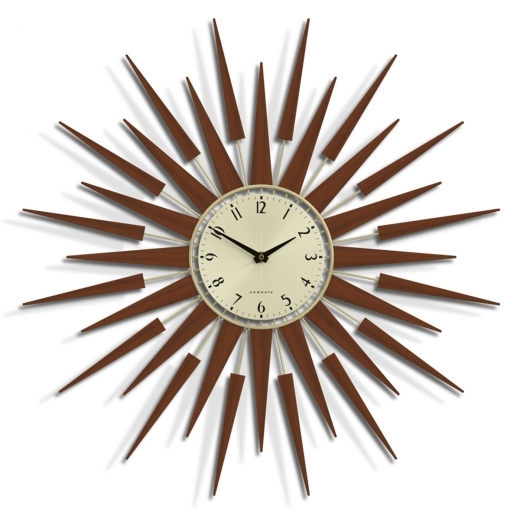 Newgate The Pluto Sunray Clock - Wood