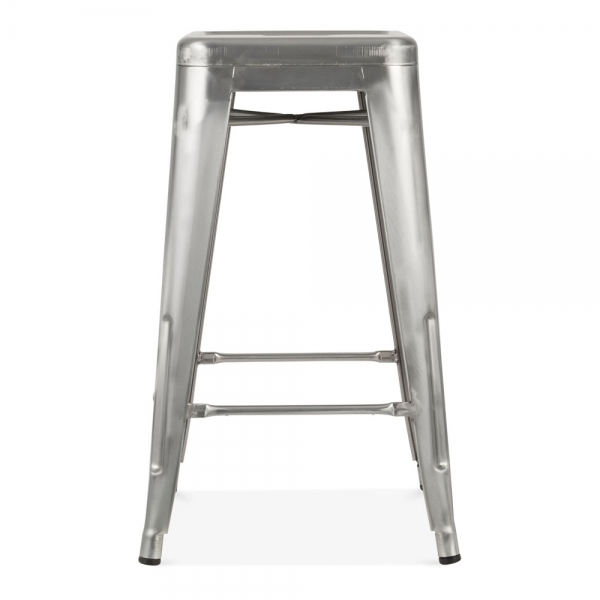 raw industrial gunmetal 65cm tolix style industrial stool cult uk