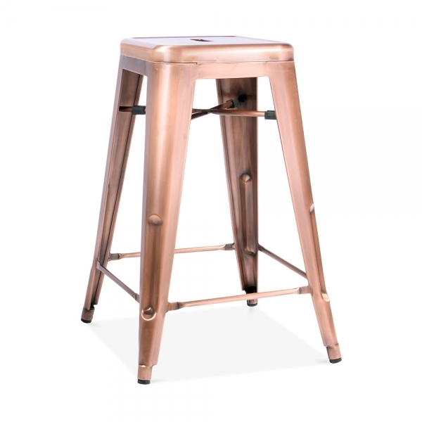 copper 65cm tolix style industrial stool kitchen stools cult uk