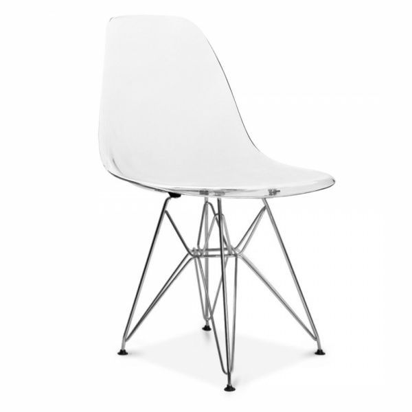 Nice Eames Inspired Transparent DSR Eiffel Chair
